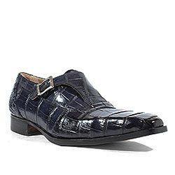 Mauri Shoes Italian Lapis Alligator Hand Painted Wonder Blue Mens Loafers ( MA1003)