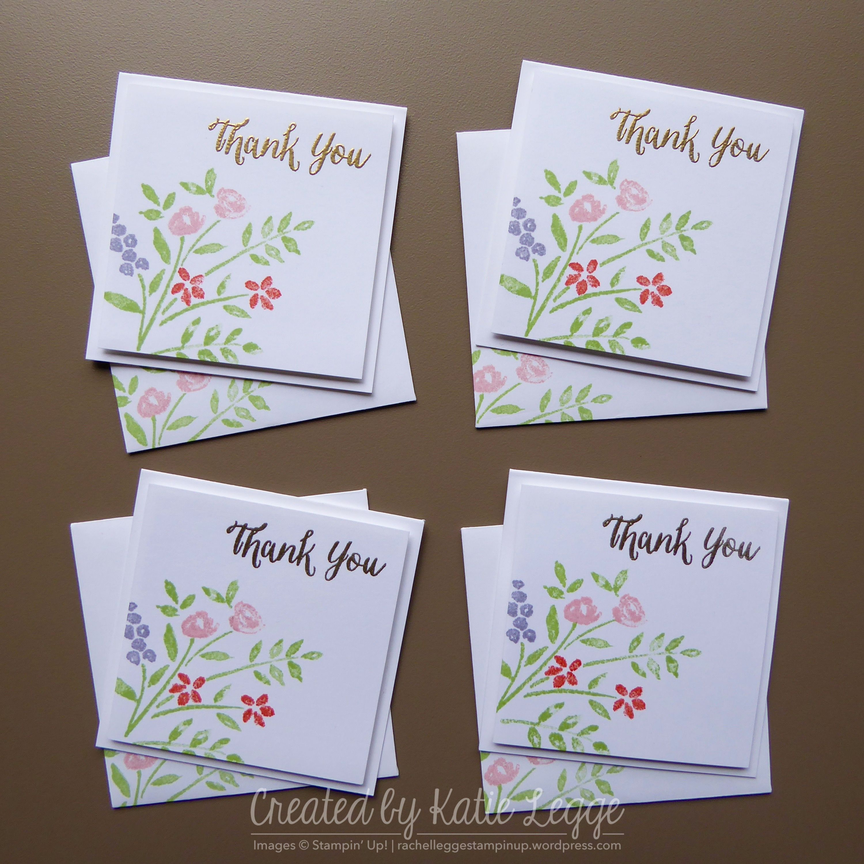 simple floral 3×3″ cards