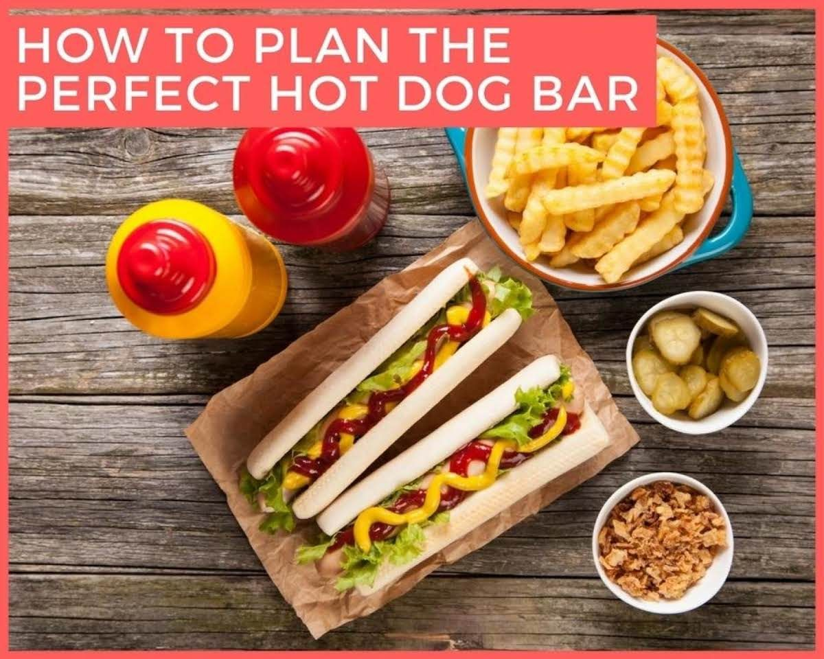 how to plan the perfect hot dog bar fall hot dog bar hot dogs hot dog recipes. Black Bedroom Furniture Sets. Home Design Ideas
