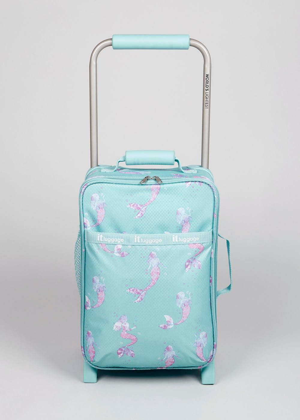 37854ebf6 All the benefits of IT luggage's award-winning world's lightest case, but  in a magical kids mermaid design. The case features multiple sections and.