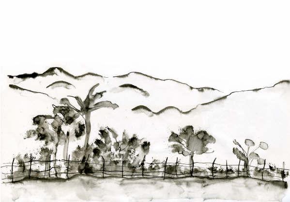 Vietnam Ink Illustration Ink Illustrations Painting Ink