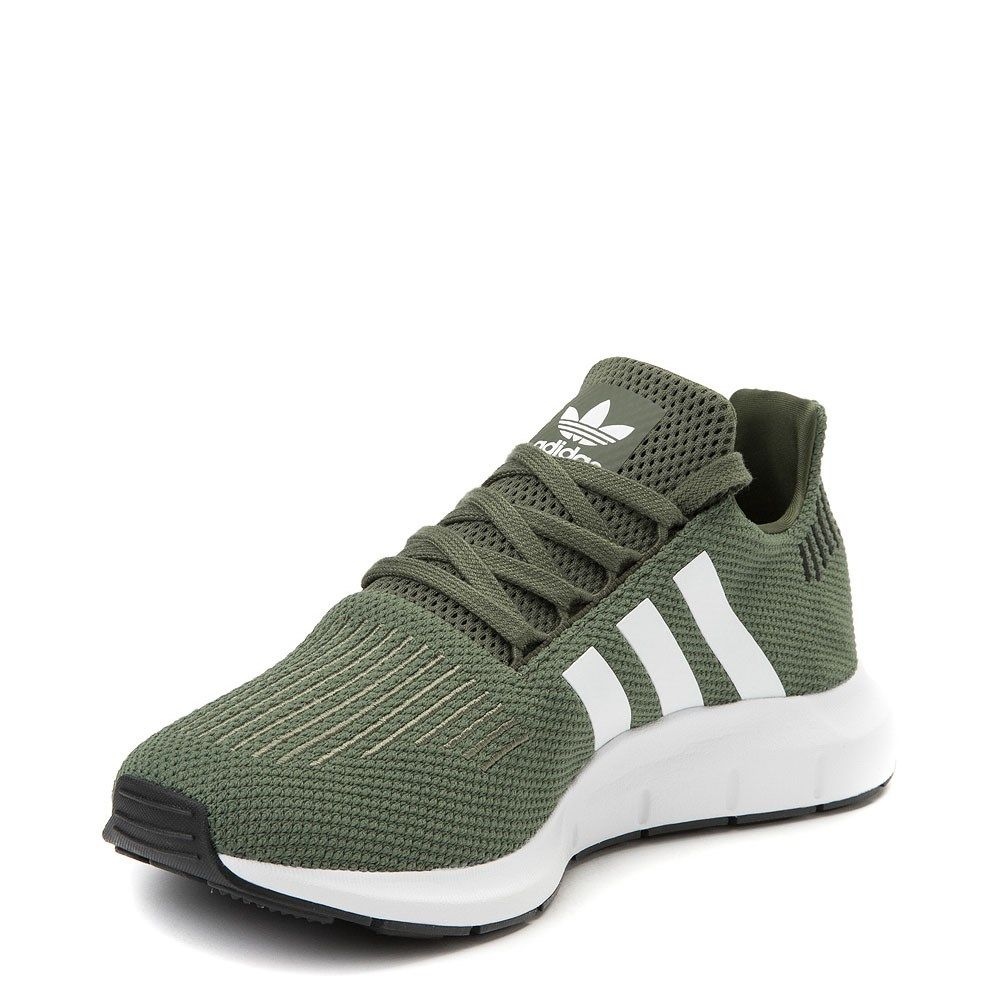 Womens Adidas Swift Run Athletic Shoe Olive White Black In