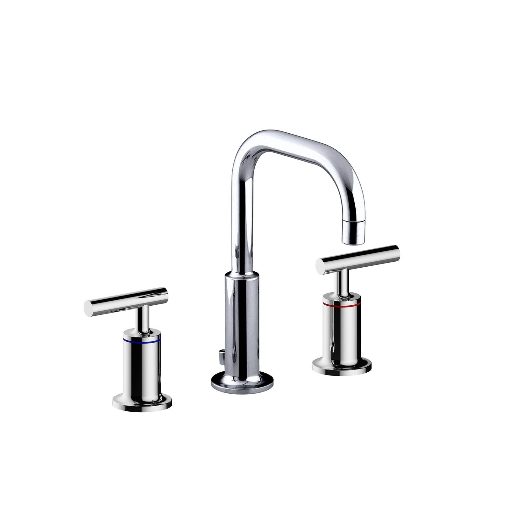 Y Decor Luxurious Double Handle Basin Faucet in Brushed Nickel ...