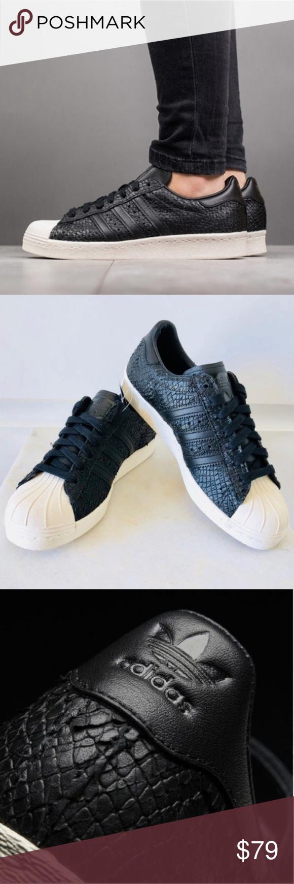 Adidas Superstars 80's BLACK Leather