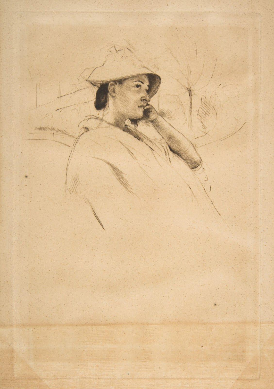 Mary Cassatt The Straw Hat 1899 Etching The Metropolitan Museum