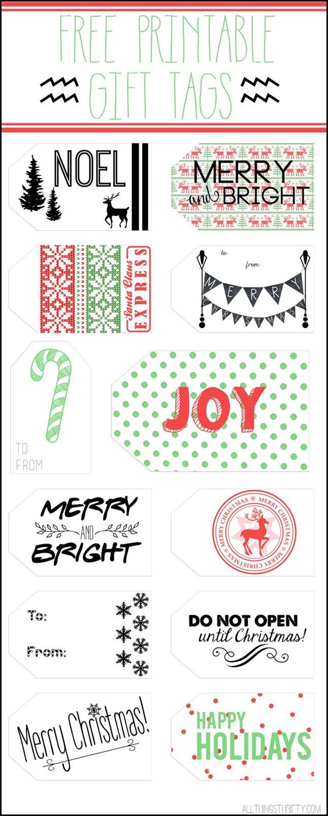 Printable christmas gift tags free printable gift tags to add to your holiday gift wrap thirtyhandmadedays negle Images