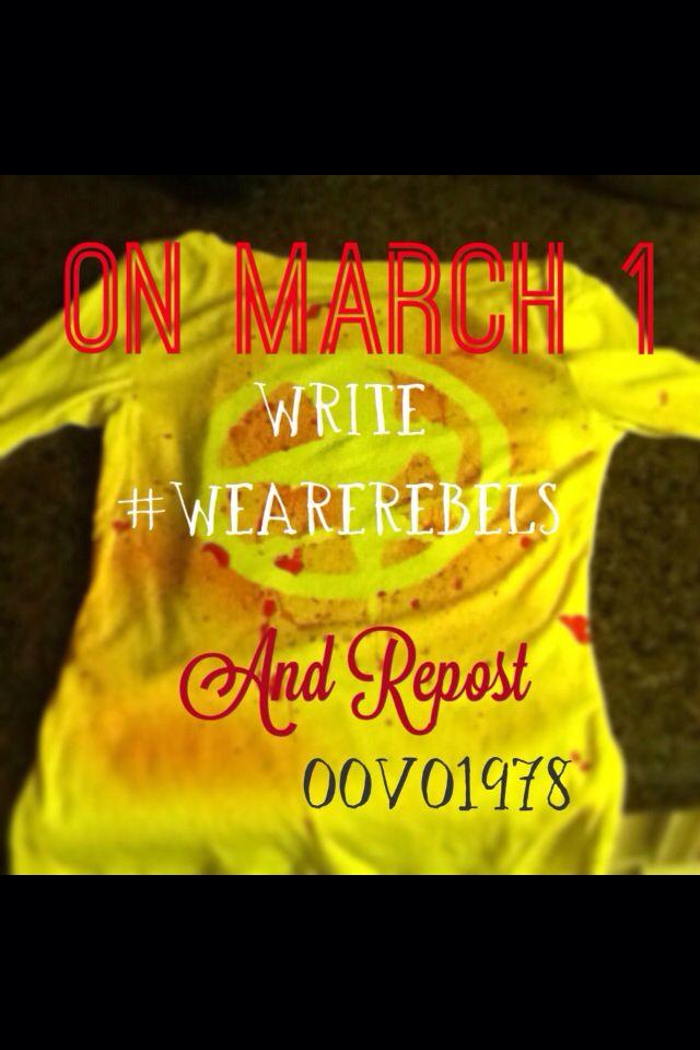 #wearerebels #hungergames