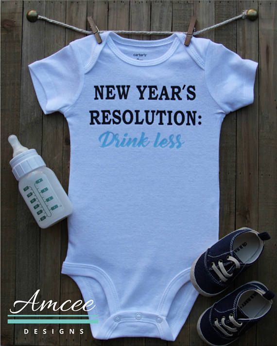 Baby New Years Resolution Drink Less Funny Custom Bodysuit Etsy Baby New Year Custom Onesies New Years Resolution