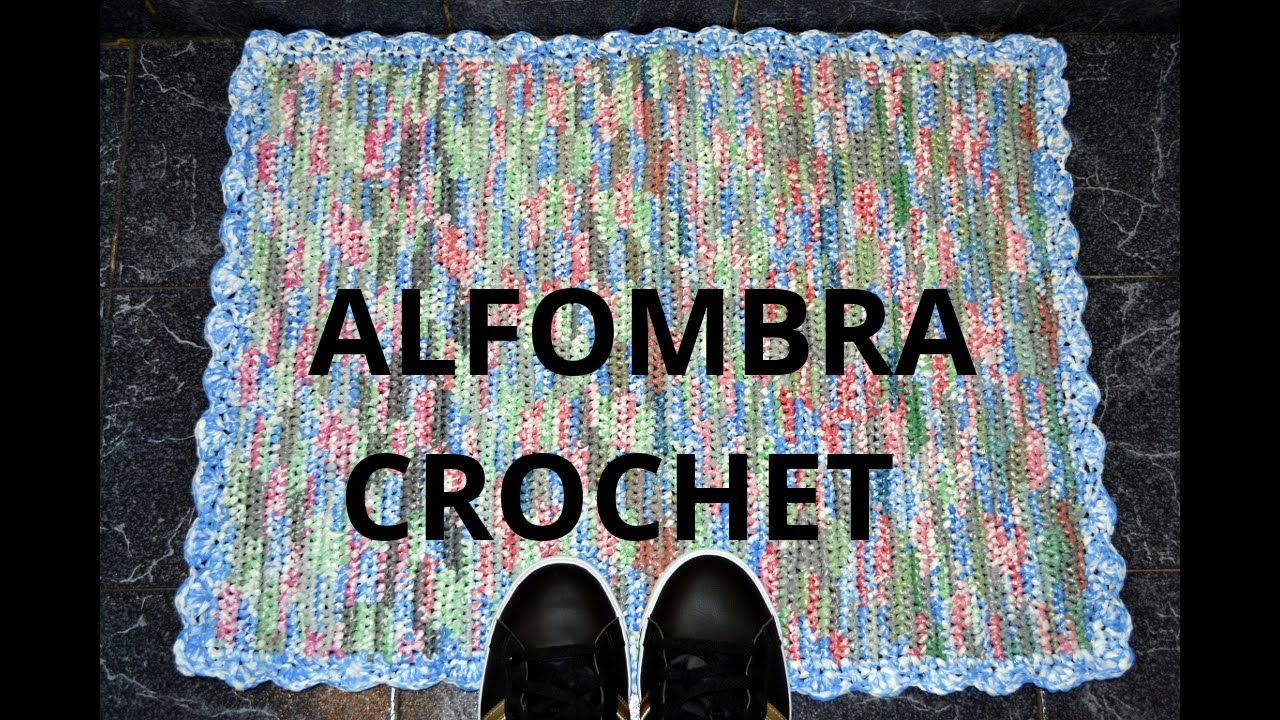 Alfombra en tejido crochet con bolsas plásticas tutorial paso a paso.