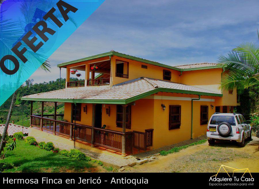 ¡Venta de finca en Jericó, Antioquia!  Precio: $ 300,000,000 Área: 5 Cuadras (32,000 mts²) Construidos: 450 mts²  http://www.adquieretucasa.com/index.php?option=com_joomanager&view=details&catitemid=144&Itemid=114