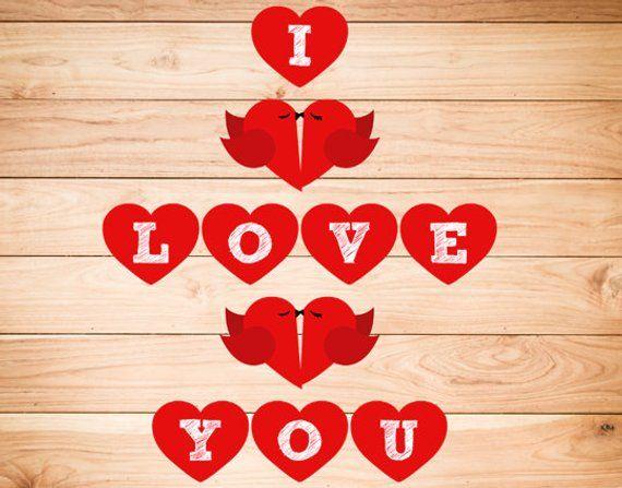 PRINTABLE I Love You Banner, Valentines, Wedding ...