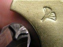 5mm Handprägestempel 3D Ginkgo Baltt für Metalle
