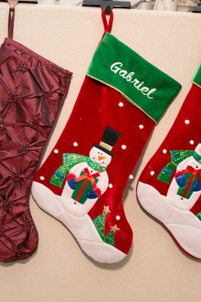 Personalized Christmas stocking from Bronner\u0027s Christmas Decor
