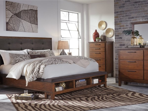 Sleigh Bed Upholstered Bed Headboard Footboard Bed Queen