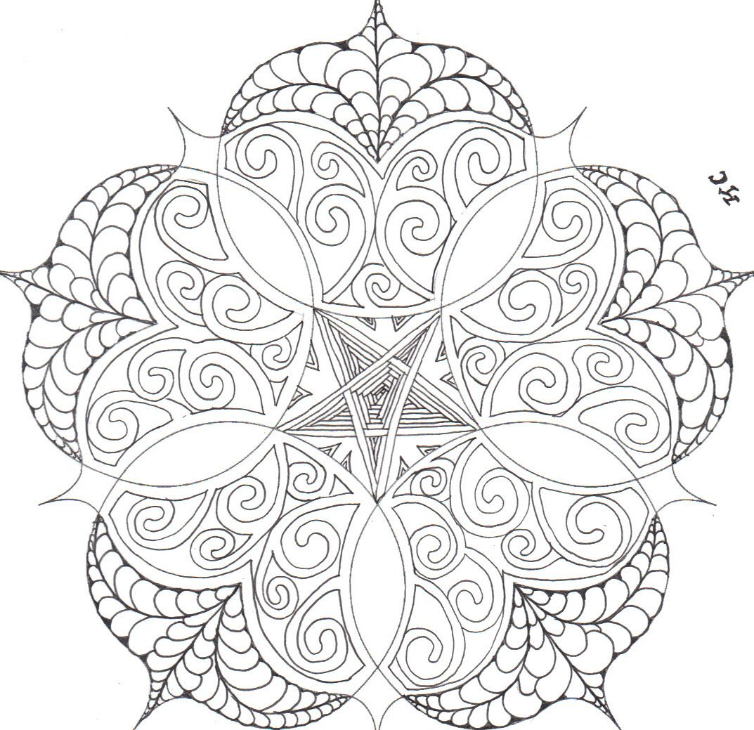 Bright Owl Challenge 83 Before Coloring Http Thebrightowl Blogspot Com Coloring Pages For Gr Mandala Coloring Pages Flower Coloring Pages Coloring Pages