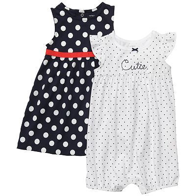 Carter's Dotted Dress & Romper Set | Kohls