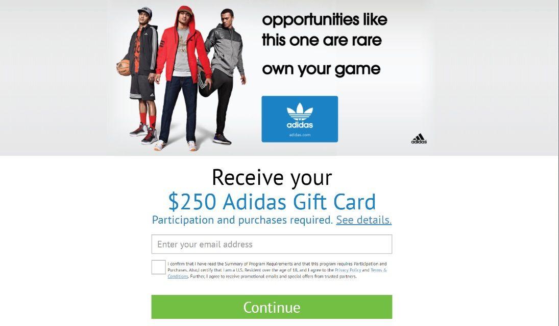 Adidas gift card 2019 adidas gifts gift card cards