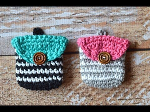 VERY EASY crochet pretty purse / clutch / bag tutorial - YouTube ...