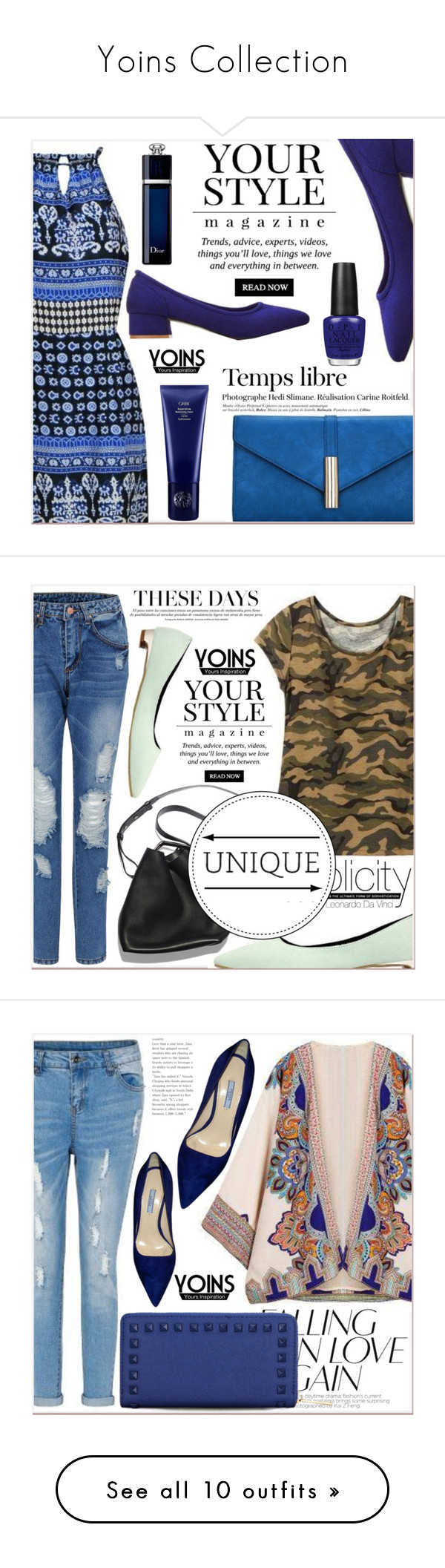 """Yoins Collection"" by lucky-1990 ❤ liked on Polyvore featuring outfit, chic, fab, yoins, Pussycat, Christian Dior, Hedi Slimane, OPI, Oribe and 3.1 Phillip Lim"