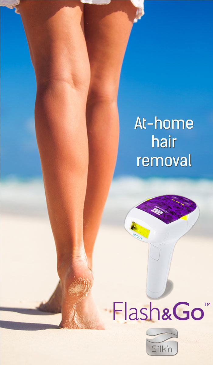 It's 2015 - Why are you still shaving?! The Flash&Go hair removal device gives you permanent results in the comfort of your own home. It's the safe and easy way to get smooth, sexy skin! Click to learn more!