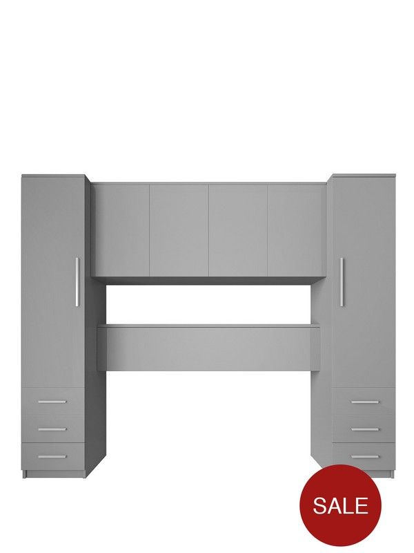 prague gloss overbed unit in 2019 bedroom bed with. Black Bedroom Furniture Sets. Home Design Ideas