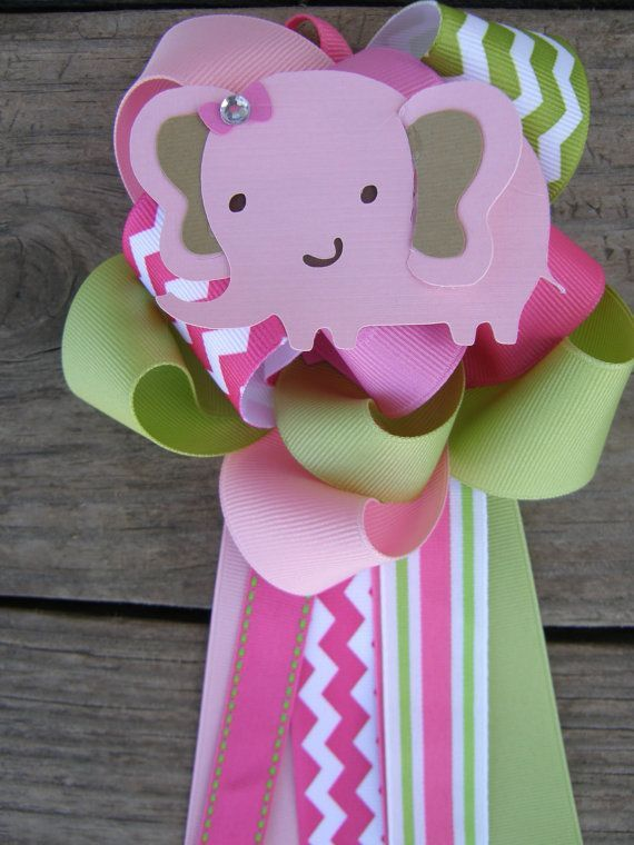 Baby Shower Corsages | Elephant Baby Shower Elephant Corsage
