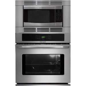 frigidaire 27 inch stainless steel 3 piece wall oven microwave