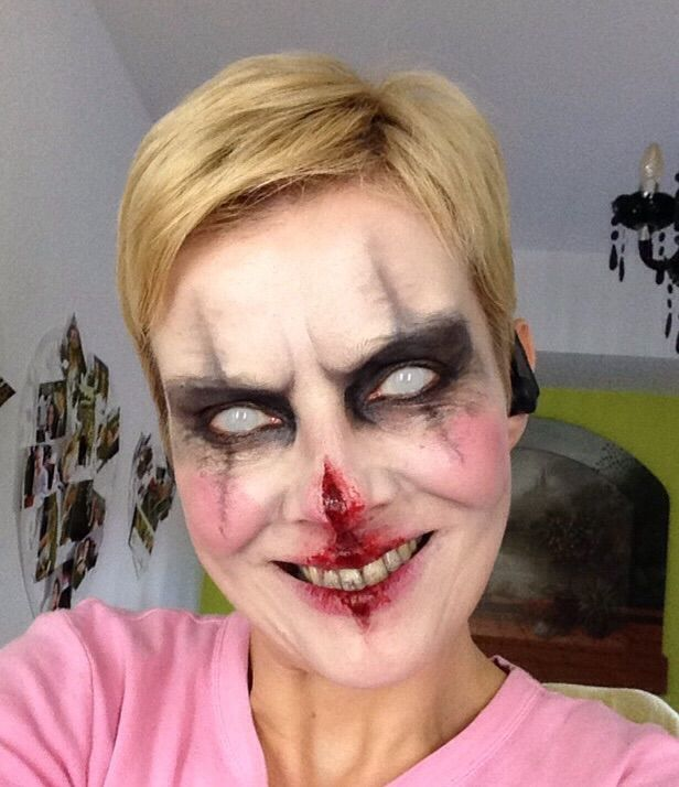 Halloween MakeUp, Bad Clown