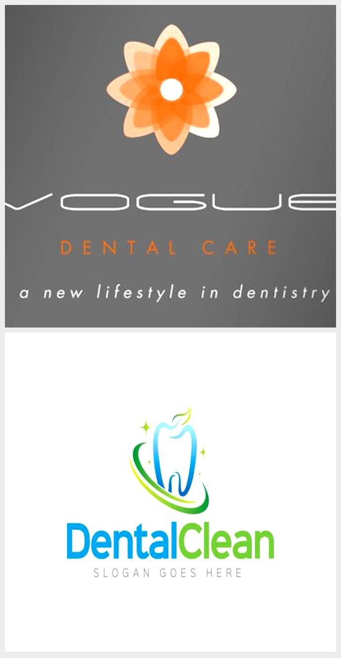 Dental logo design for Vogue Dental Care a dentist in Luton. By Design4dentists #dentallogo