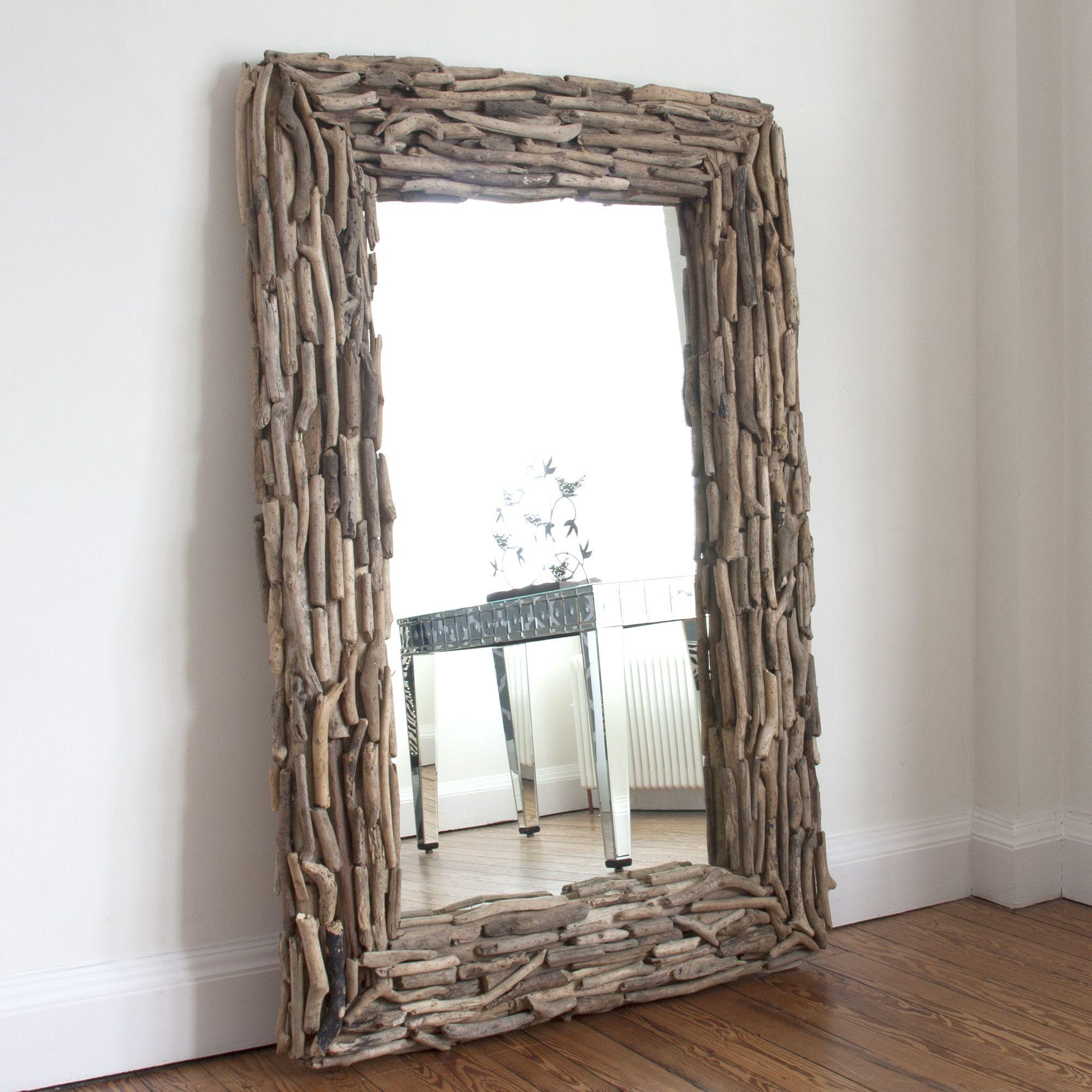 Large Rectangular Drift Wood Mirror | living room | Pinterest ...