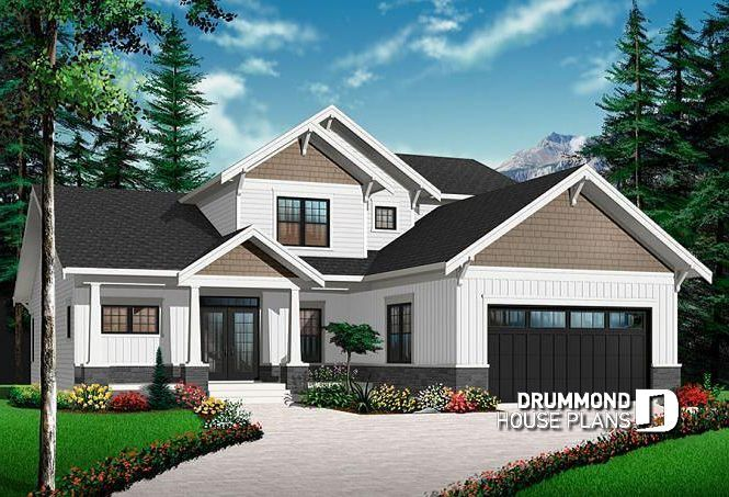 front base model cape cod style home plan 4 bedrooms home office rh pinterest com