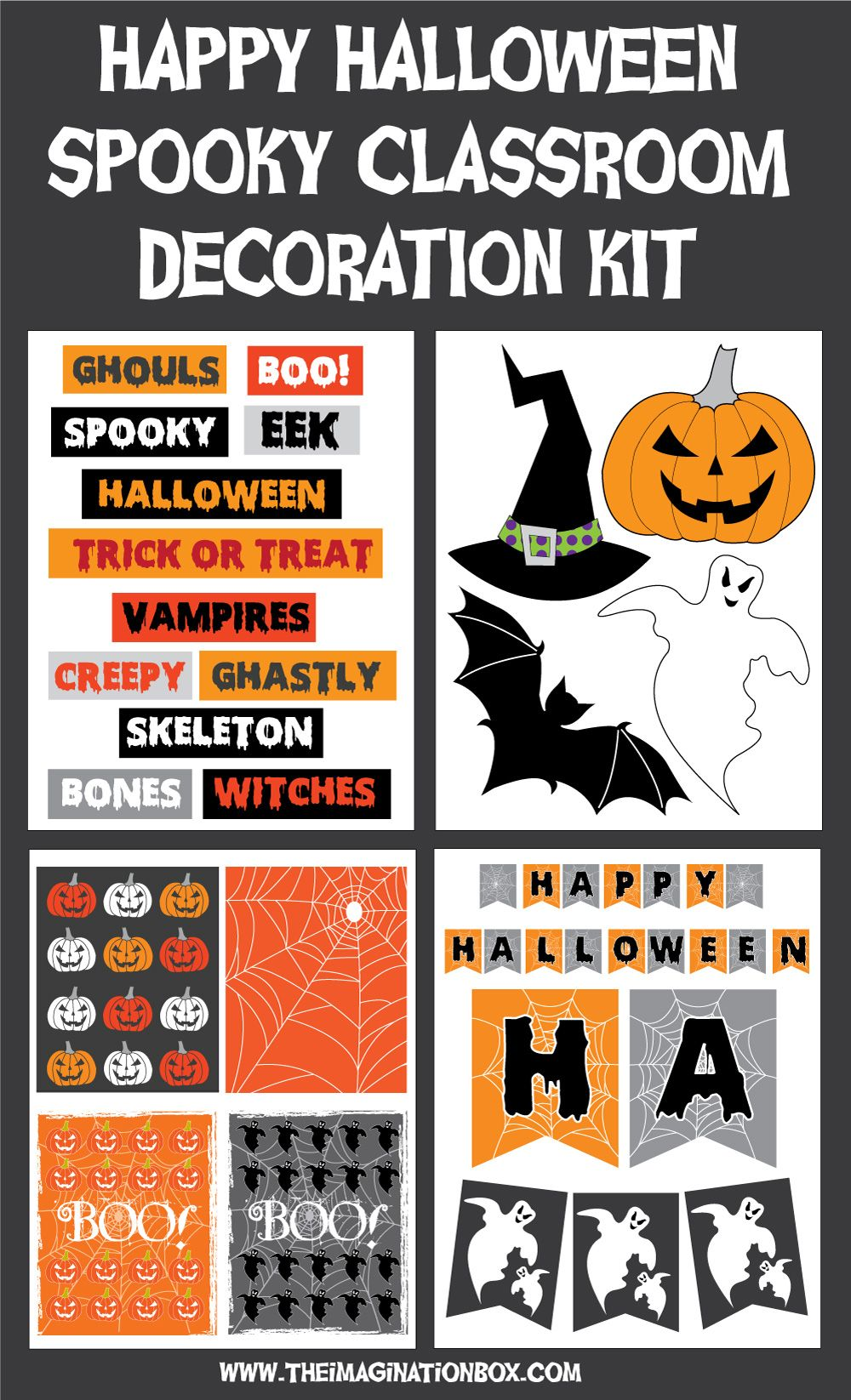 halloween decorations spooky classroom kit homeschooling rh pinterest ie