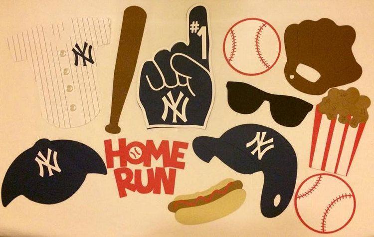MLB LA Dodgers or NY Yankees Baseball Photo Booth by JJJBCRAFTS