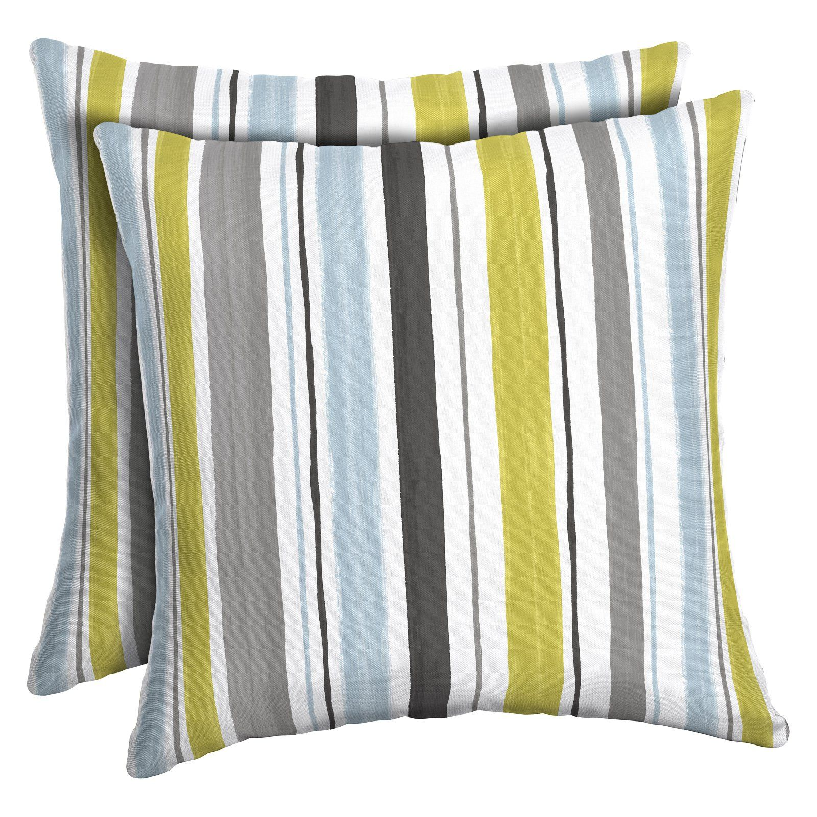 Arden Selections Excess Kenda Stripe Outdoor Toss Pillow Set Of 2