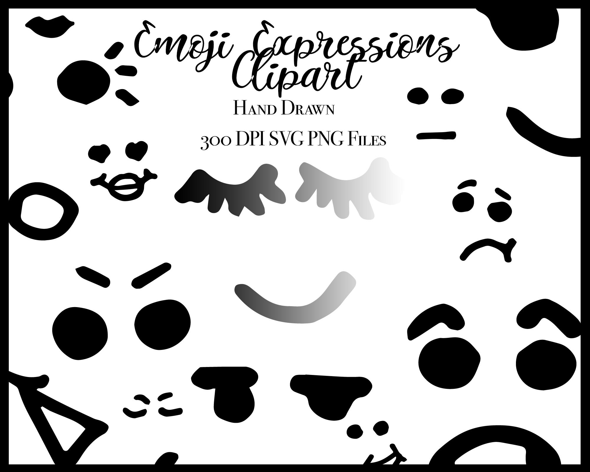 Emoji Expressions Clip Art | Clip art, Hand art drawing ...