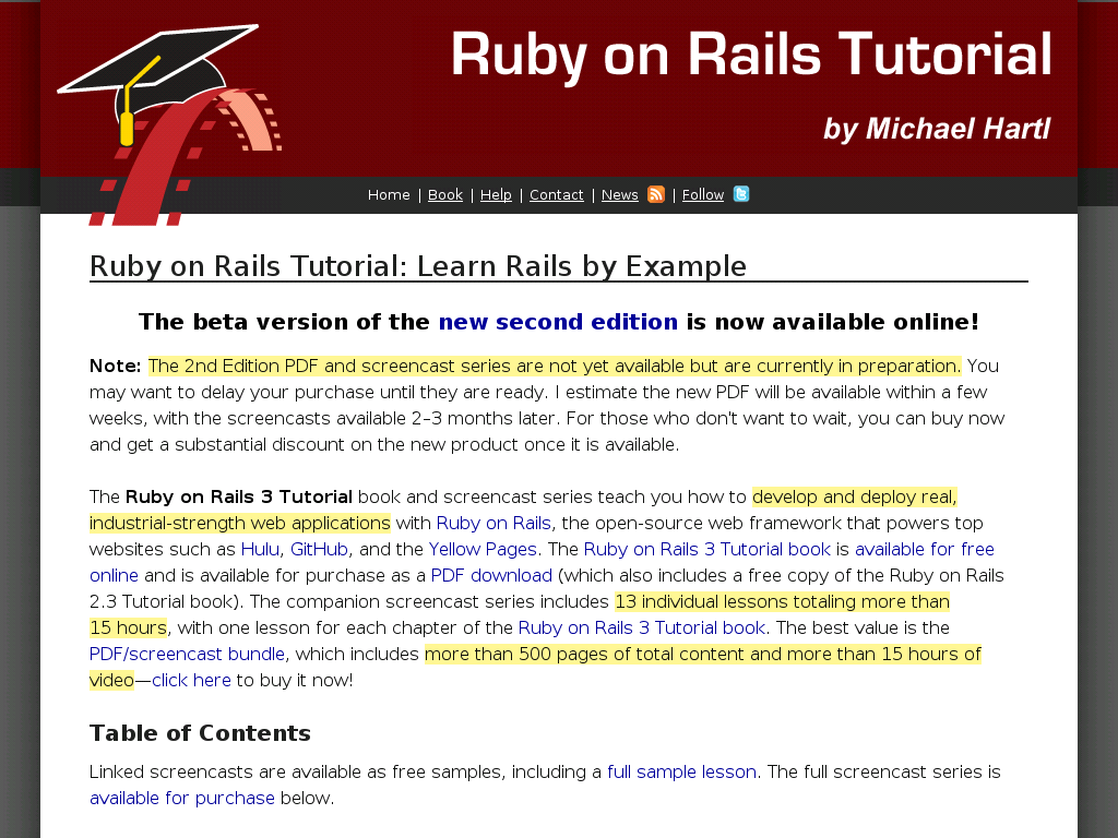 Ruby On Rails Tutorial (3rd Ed.) Pdf