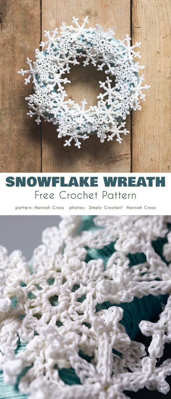 Photo of Winter Wreath Free Crochet Patterns