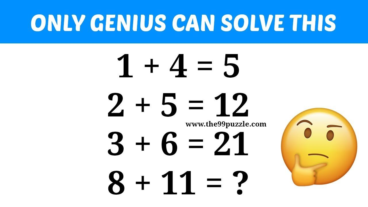 Only Genius Can Solve This Math Puzzle Maths Puzzles Solving Brain Teasers