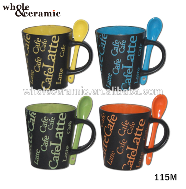 Source Microwave Ceramic Soup Mug Stoneware Handle Cup Funny Coffee Mug With Spoon On M Alibaba Com Mugs Soup Mugs Funny Coffee Mugs