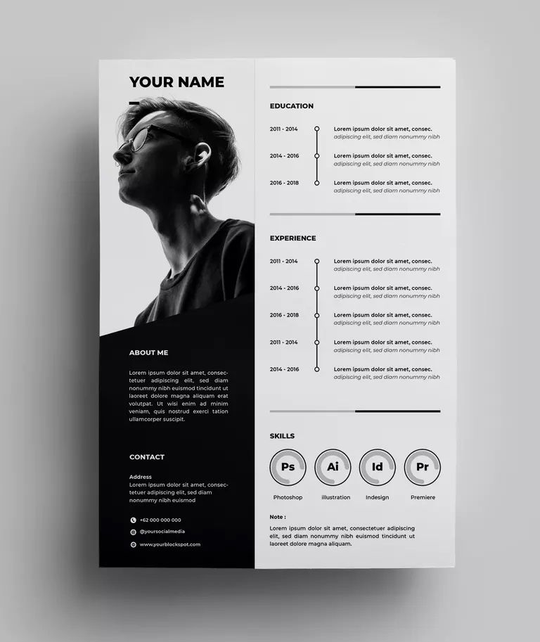Resume Design Templates 04 By Surotype On Envato Elements Graphic Design Resume Resume Design Resume Design Creative