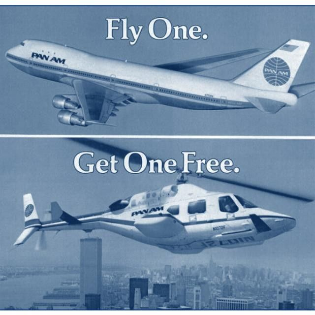 pan am offered complimentary omniflight helicopter service. Black Bedroom Furniture Sets. Home Design Ideas