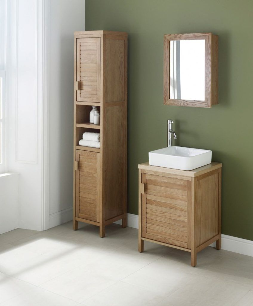 Free standing bathroom cabinets brown