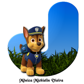 Alphabets By Monica Michielin Alfabeto Patrulha Canina Chase Png Paw Patrol Alphabet Png Paw Patrol Chase Paw Patrol Paw Patrol Birthday