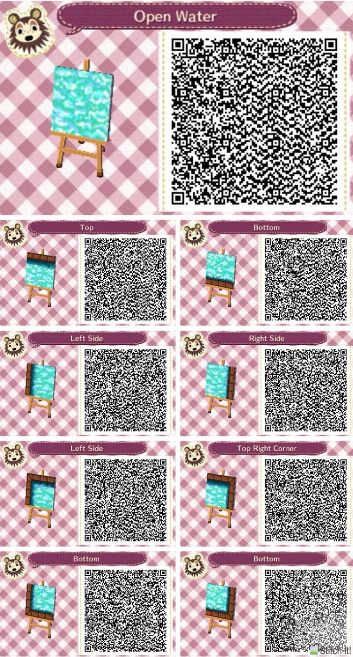Animal Crossing Open Water Swimming Pool Qr Codes Acnl Pinterest