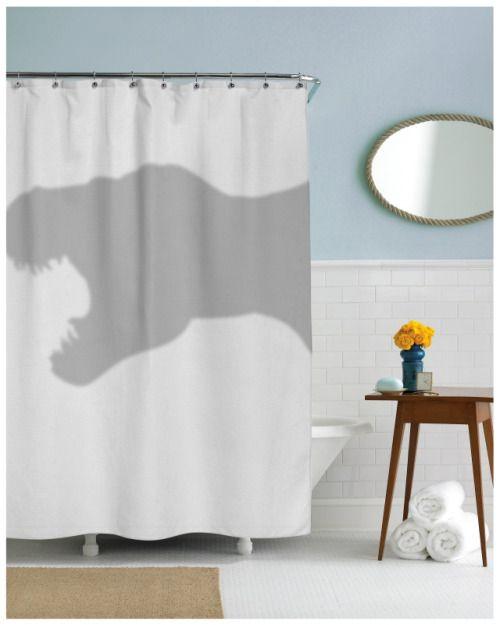 Nerdzgonewild T Rex Dinosaur Trex Shower Curtain Geek Gifts Cool Shower Curtains Funky Shower Curtains Funny Shower Curtains