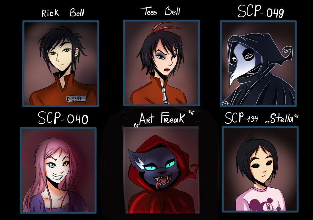 SCP : beyond the breach 1-4th arc characters #1 by Nomidot