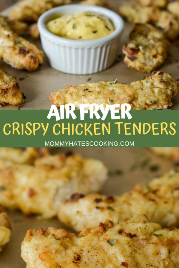 AD Make the best Gluten-Free Air Fryer Crispy Chicken Tenders with this easy air fryer recipe. This recipe uses simple ingredients! @PerdueFarms #PerdueFarmsFarmtoHome #PerdueFarms_Partner #AirFryer #NinjaFoodi #GlutenFree