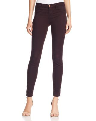 J Brand Mid Rise Super Skinny Jeans in Snifter $188.00 J Brand constructs the ultimate skinny jeans in a season-spanning, richly hued wash that delivers wear-with-all attitude.