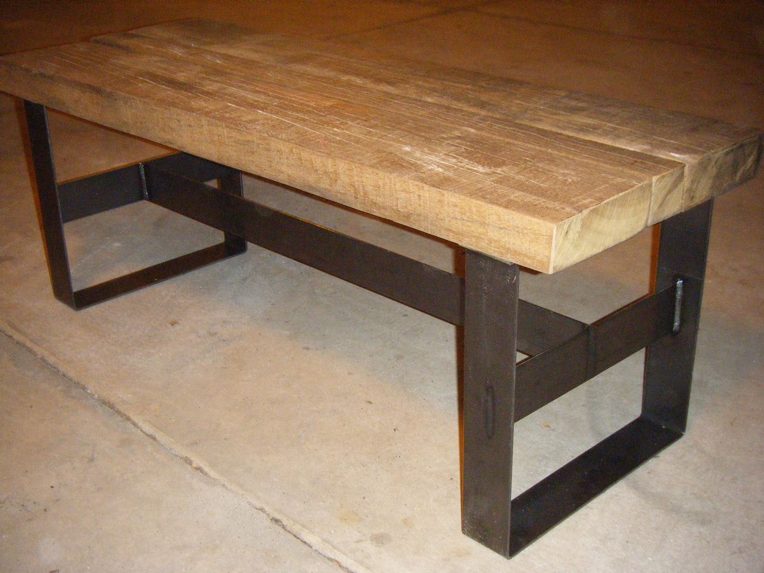Reclaimed wood and steel Reclaimed wood and