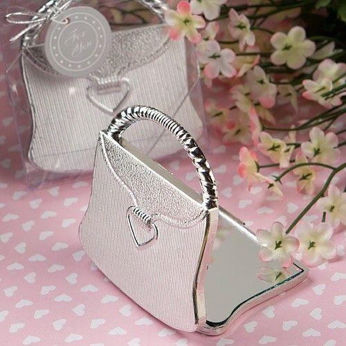 40 Gold High Heel Shoe Design Compact Mirrors Wedding Bridal Shower Favors